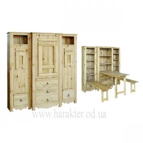 Шкаф-трансформер-стол в стиле Кантри, Шафа 3-секційна, деревенский стиль
