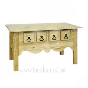 Стол журнальный деревянный в стиле Кантри P-4S