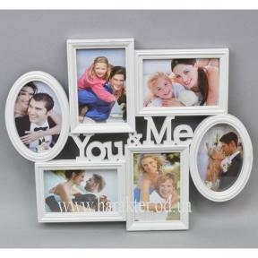 Фоторамка настенная You&Me на 6 фото