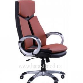 Кресло Optimus коричневый, черный амф