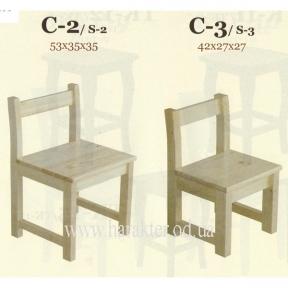 Cтiлець С-2 (С-3) (дитячий), стул детский деревянный С-2 (С-3)