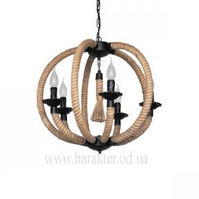 Люстра Шар верёвочный в морском стиле
