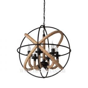 Люстра Орбита с верёвками на 6 ламп