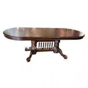 стол раскладной 4296-1 темный  орех