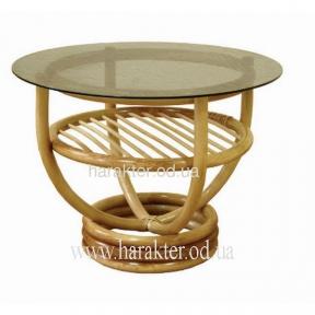 Журнальный столик круглый ротанговый