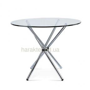 Стол обеденный Тог, стеклянный, металл, диаметр 90 см мдс