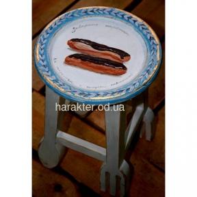 табурет Заварные пирожные с росписью, оригинальная мебель