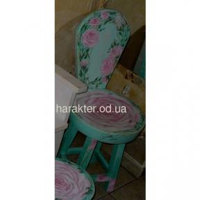 стул Роза с росписью