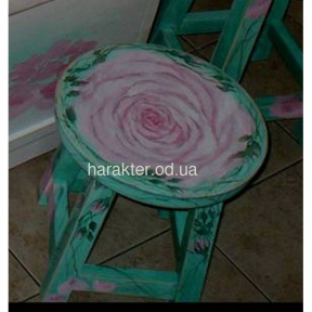 табурет росписной Роза