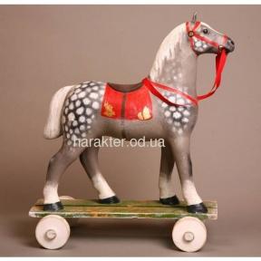 лошадка на колесиках именная