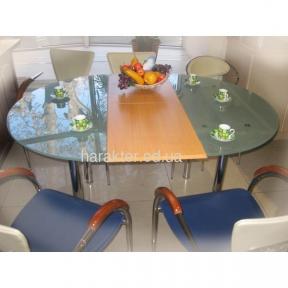 стол круглый раскладной пескоструй TL1001A