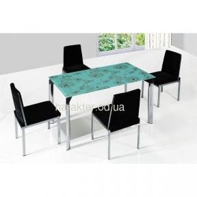 Стеклянный столик с цветами на столешнице AS-266