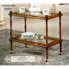 Сервировочный столик-тележка арт.109 лира