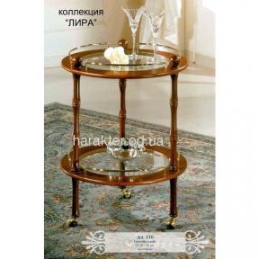 Сервировочный столик-тележка круглый арт.110 лира