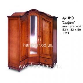 шкаф угловой деревянный София классика Art.810