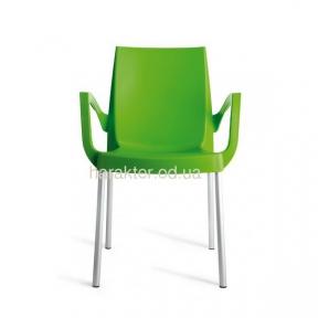 стул с подлокотниками BOULEVARD Polypropylene + Aluminium