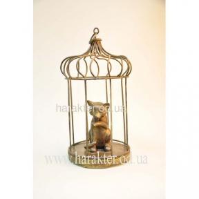 101919 Кошка в клетке 17*31см