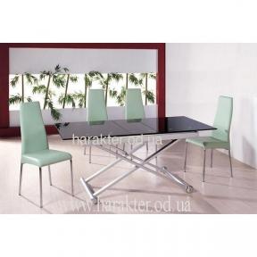 Стол стеклянный 851А (чёрный, белый)