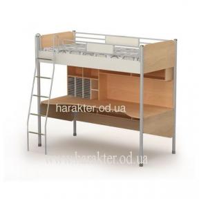 Кровать-чердак со столом, Ліжко+стіл М-16-1