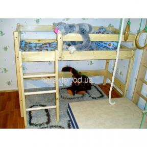 Двухъярусная кровать-чердак высота 122 см или 150 см