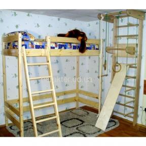 Двухъярусная кровать-чердак высота 187 см