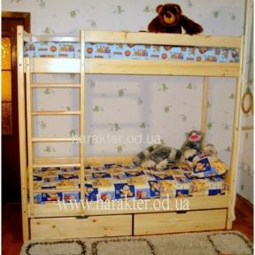 Двухъярусная кровать  с ящиками шс