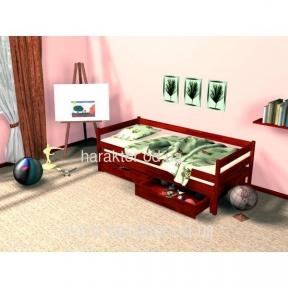 Кровать деревянная Компакт 3 в одном две кровати и ящики