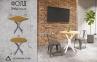 Стол обеденный Фолд круглый или квадратный в стиле Лофт мд