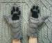 Варежки, рукавички из шерсти Лапки Котик хенд-мейд