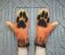 Варежки, рукавички из шерсти Лапки Лисичка хенд-мейд