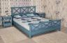 Кровать из дерева в стиле Прованс Кантри РБК с перекрестом на спинках 140/160/180
