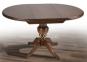 Стол обеденный раскладной, Стіл обідній  круглий Гермес орех (авангард) мм
