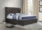 Кровать двуспальная 1,6 Империя (ткань светлый или темный мокко) кд