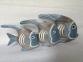 Декор Семья рыб синих, 24, 21, 15 см дерево 32101