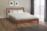 Двоспальне ліжко Челсі, дерево горіх лісовий, горіх темний мм