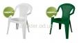 Стул Ischia пластик белый, зеленый амф