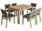 Комплект обеденный стол и стулья Марко (дуб) мф