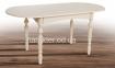 Стол обеденный Бруно раскладной белый, бежевый (ультра) мм