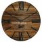 Настенные часы деревянные Nevada цвет Mokko, Gold, Rust